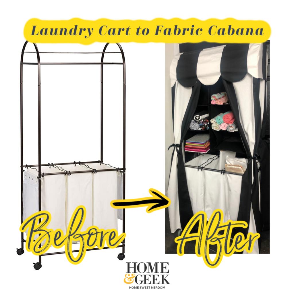 Laundry Cart to Fabric Storage Cabana