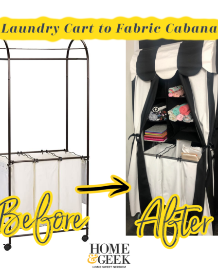 Laundry Cart to Fabric Storage Cabana